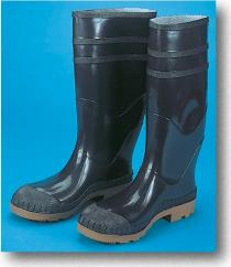 16Inch PVC Sock Boots Black