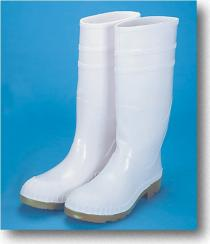 16Inch PVC Sock Boots White