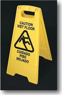 Indfootl Floor Wet Floor Eng/Spanish