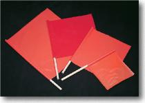 Red Vinyl Highway Safety Flags