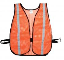 "Heavy Weight Safety Vest - 1-3/8"" Silver Reflective"