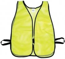 Lime Soft Mesh Safety Vest - Plain