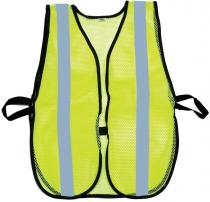 Lime Soft Mesh Safety Vest - 1inch Silver