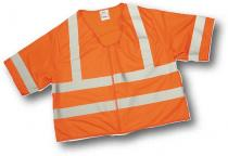 CL3 Orange Solid Vest 2Sil