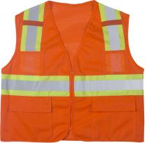ANSI Class 2 Mesh Orange Surveyor Vest