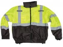 3-in-1 ANSI Class 3 Lime/Black Bomber Jacket
