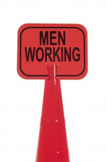 Traffic Cone Signs - Men Working
