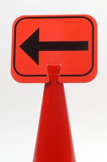 Traffic Cone Signs - LEFT ARROW