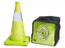 "18"" Deluxe Lime Collapsible Traffic Cones - 4Pk"