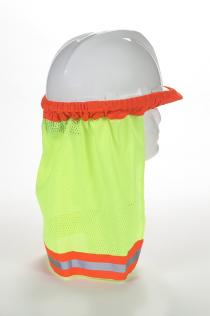 ANSI Lime Mesh Hard Hat Neck Shade w/Reflective