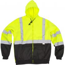 ANSI Class 3 Lime Black Hoodie